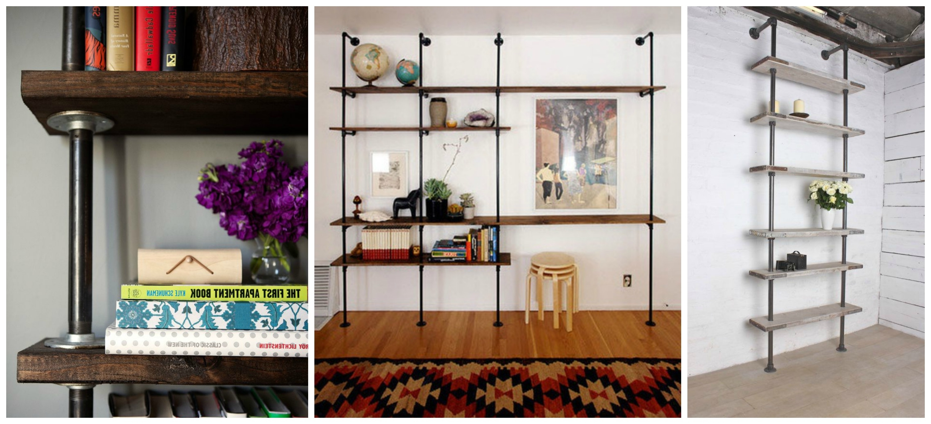 Diy Projects Pertaining To Well Known Pipe Bookcases (View 3 of 15)