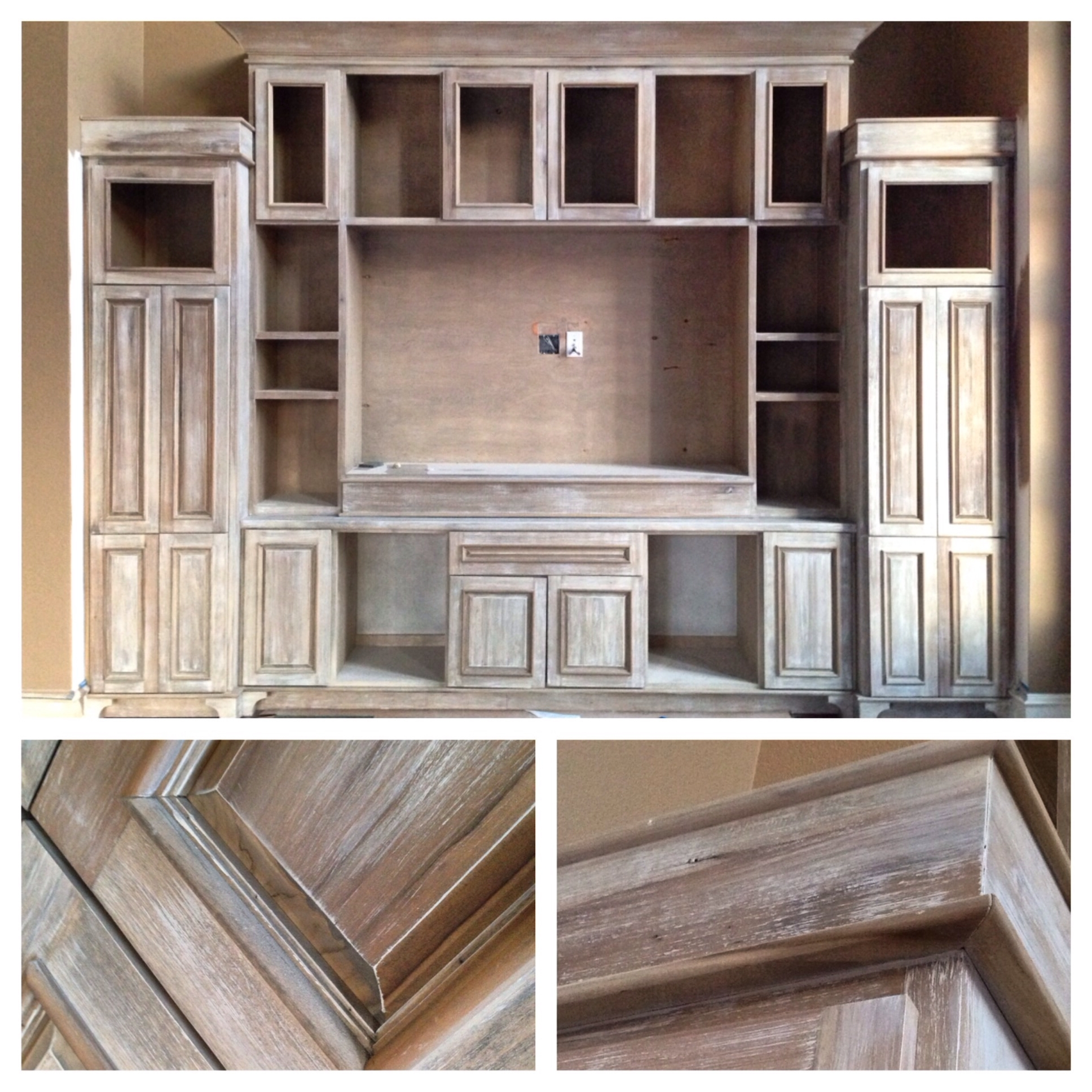 Diy Restoration Hardware Look Using Minwax 'weathered Oak' Stain For Famous Painted Oak Bookcases (View 5 of 15)