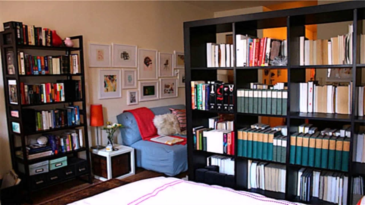 Diy Room Divider Bookshelf – Youtube In Fashionable Bookcases Room Divider (View 8 of 15)