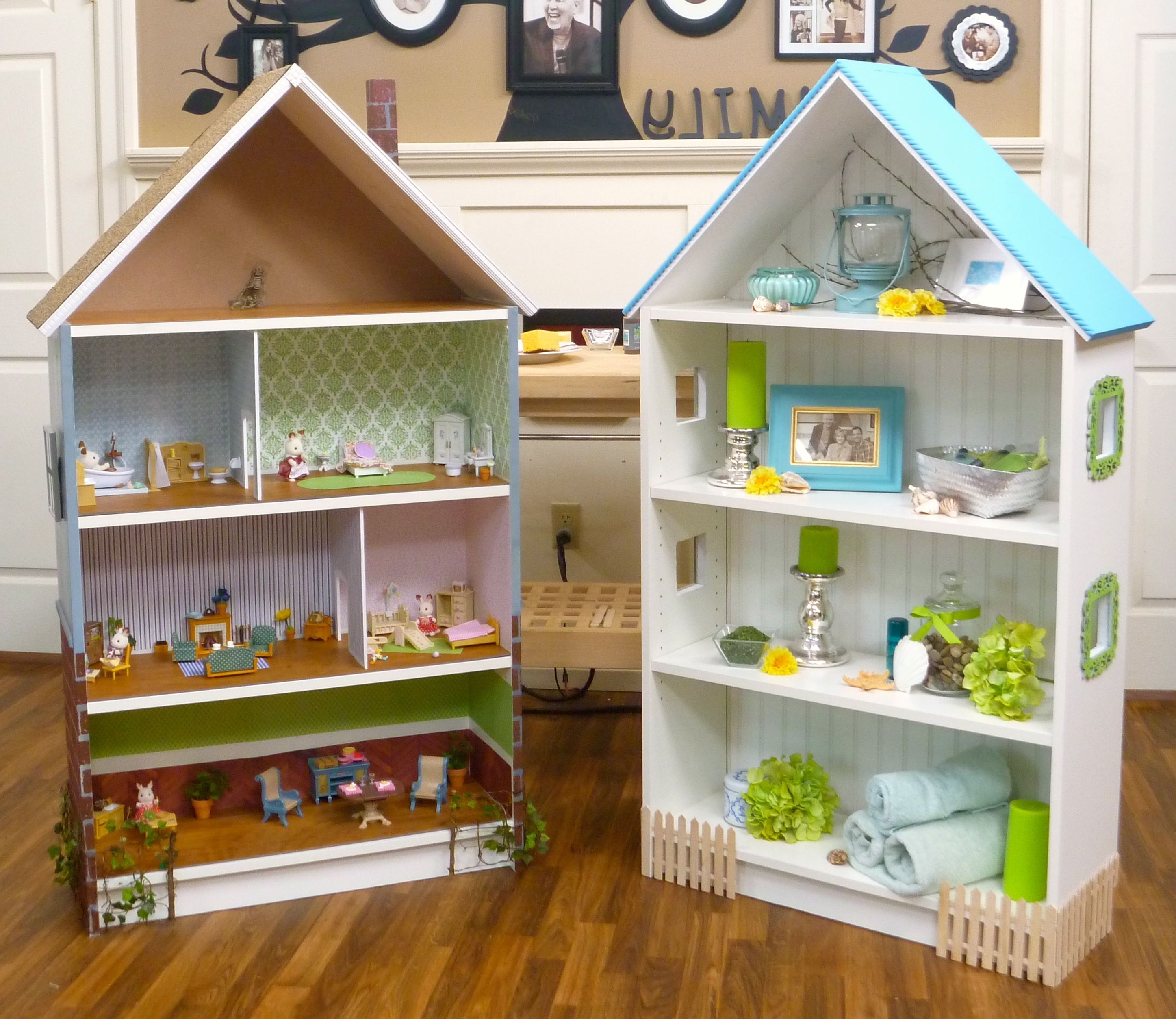 Dollhouse Bookcase: Beach Cottage, Brick Row House — Cute Ikea Within Famous Dollhouse Bookcases (View 7 of 15)