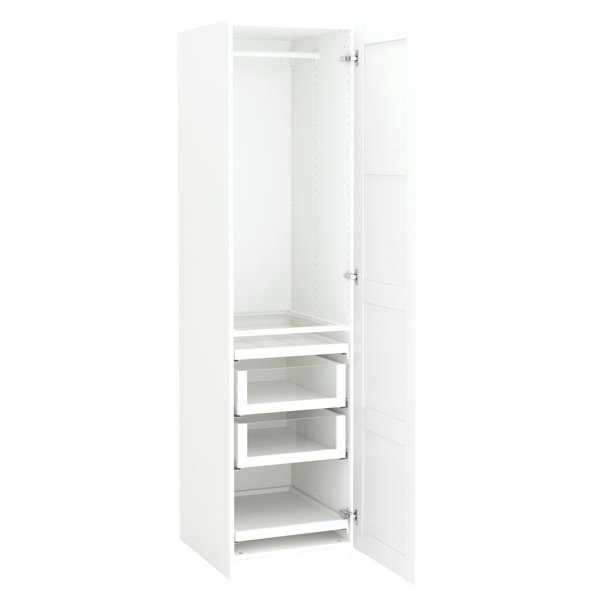 Double Rail White Wardrobes In Most Current Nightstand : Appealing Double Rail Wardrobes Ikea Amazing Tall (View 6 of 15)
