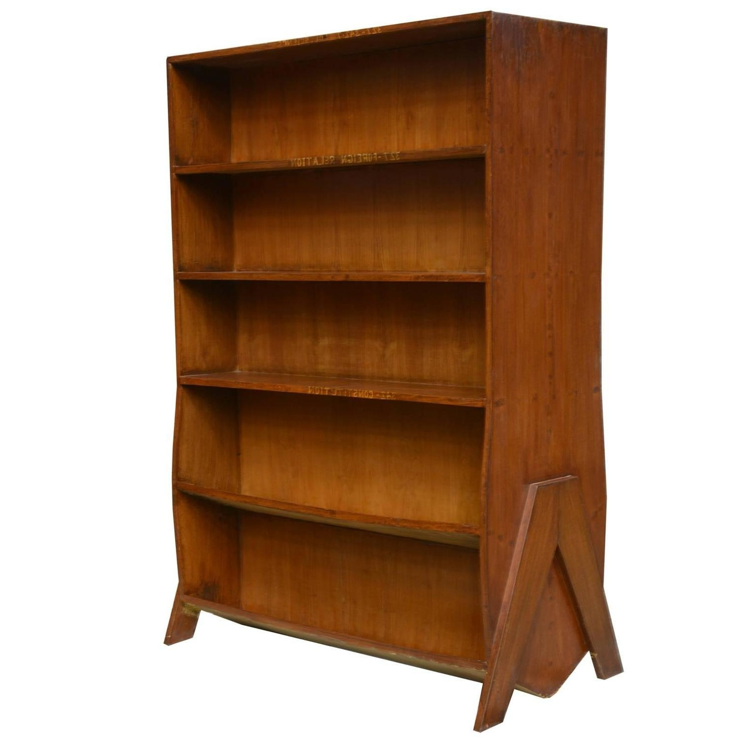 Double Sided Bookcases Throughout Popular Pierre Jeanneret Double Sided Bookcase For Sale At 1stdibs (View 10 of 15)