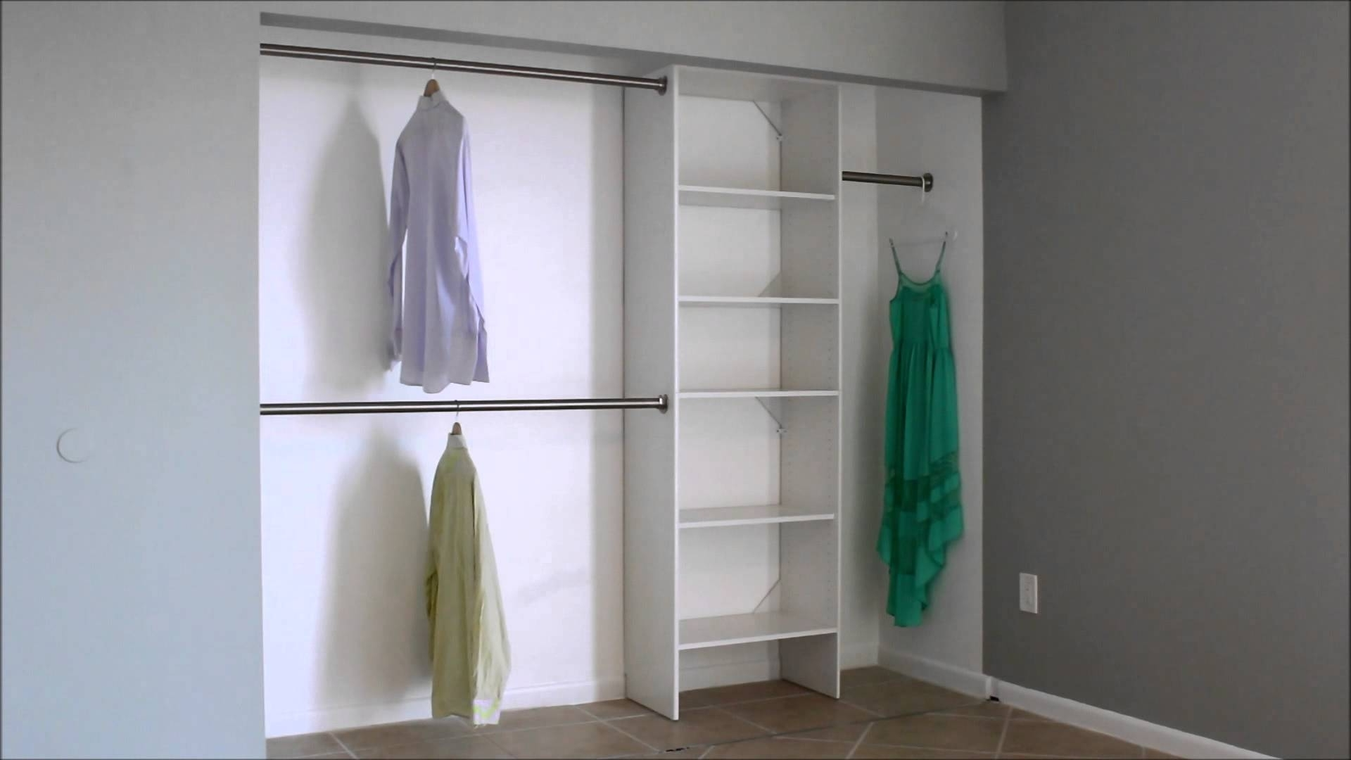 Double Wardrobes Hanging Rail And Supports Intended For 2018 Closet: Surprising Hanging Closet Rod Ideas Hanging Closet Rod (View 3 of 15)
