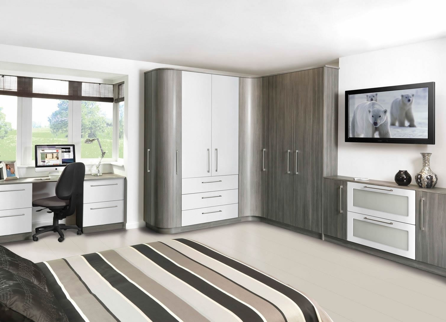Drawers For Fitted Wardrobes With 2018 Fitted Wardrobes For Your Bedroom Telford Shropshire – (View 9 of 15)