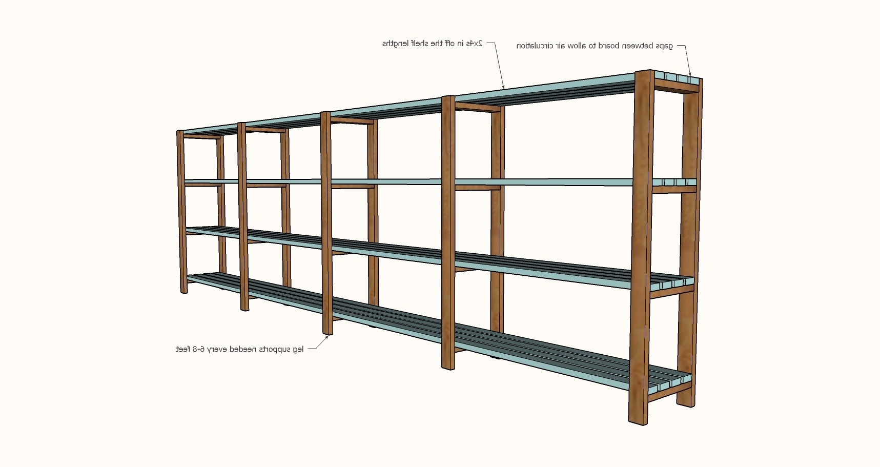 Easy, Economical Garage Shelving From 2X4S – Diy Projects Intended For Popular Diy Bookcases Plans (View 7 of 15)