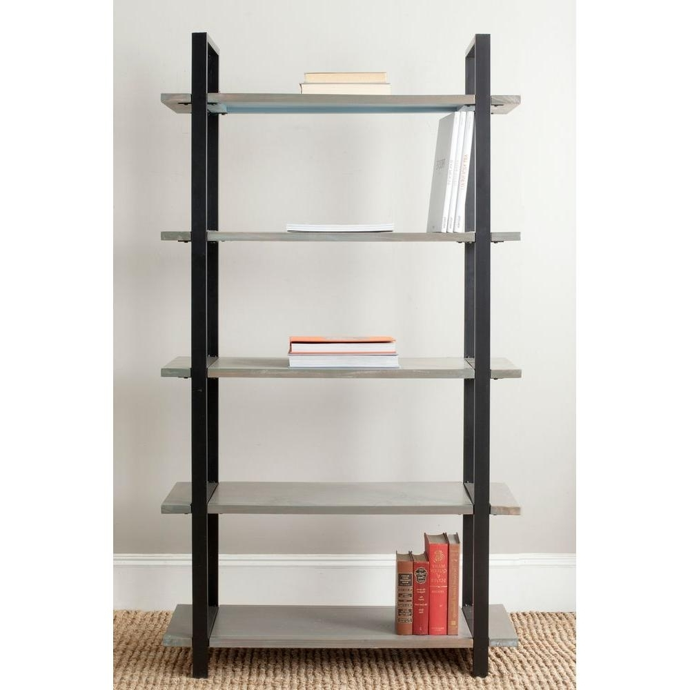 Etagere Bookcases With Regard To Trendy Safavieh Scott 5 Tier Ash Grey Etagere Amh6590B – The Home Depot (View 7 of 15)