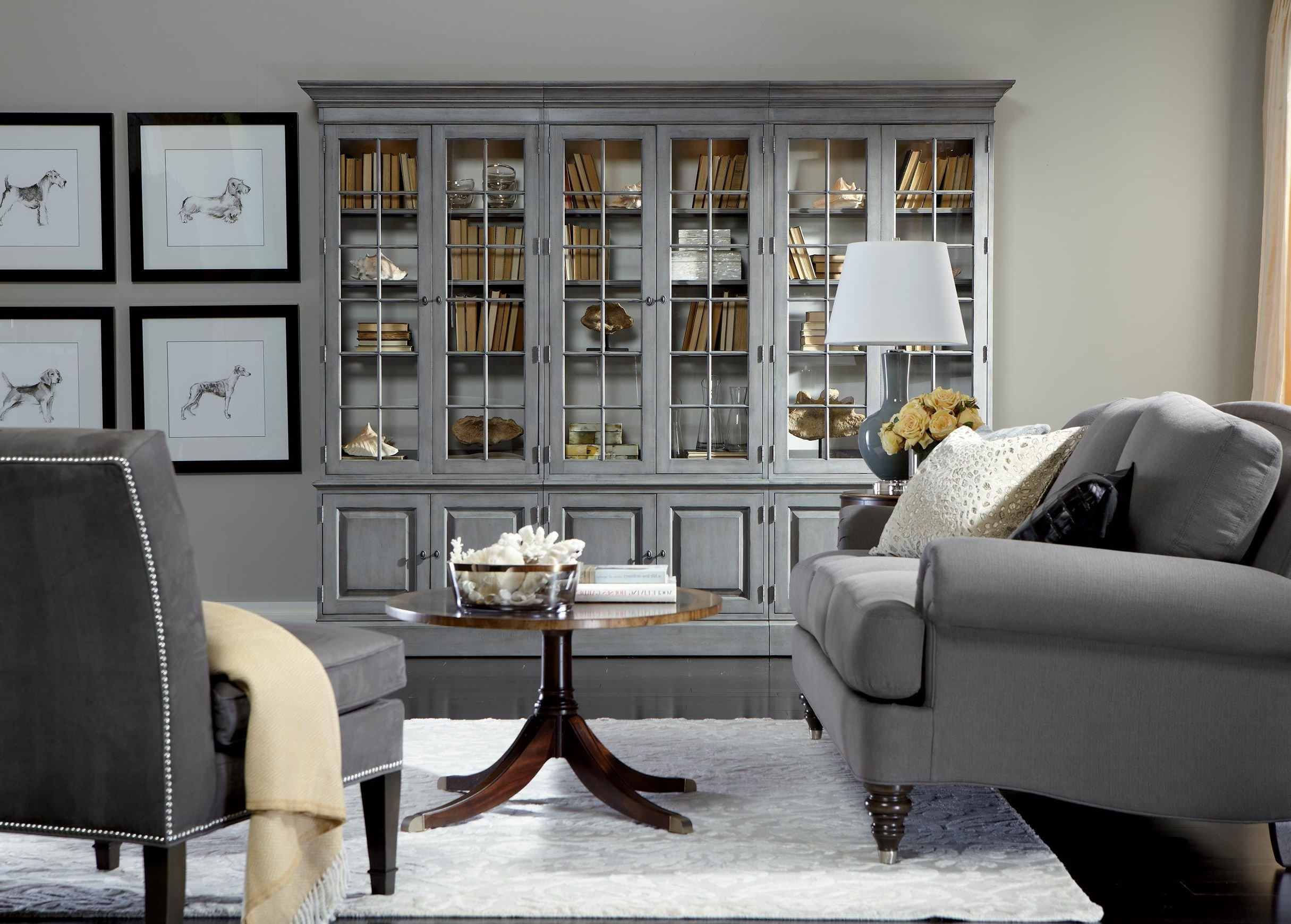 Ethan Allen Bookcases Pertaining To 2018 Villa Triple Library Bookcase – Ethan Allen (View 13 of 15)