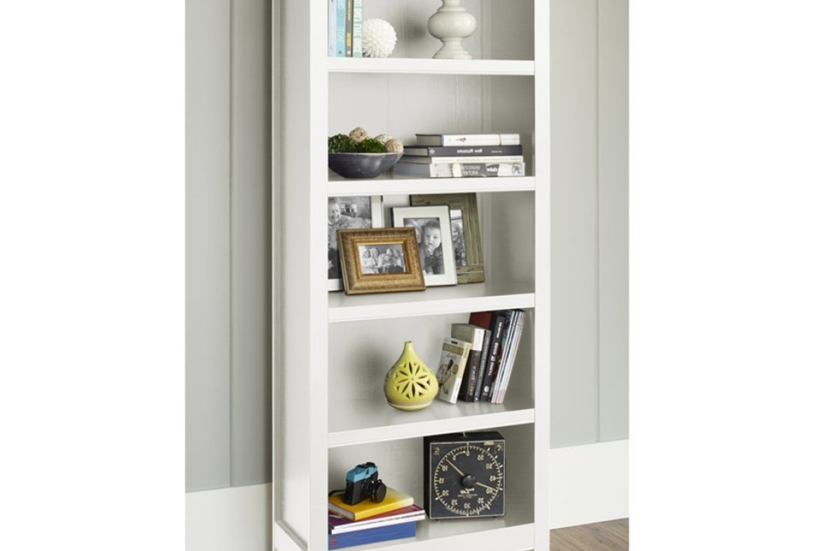 Exceptional Figure Bookcase Storage Unit On White Low Bookcase Within Most Current Carson 5 Shelf Bookcases (View 5 of 15)