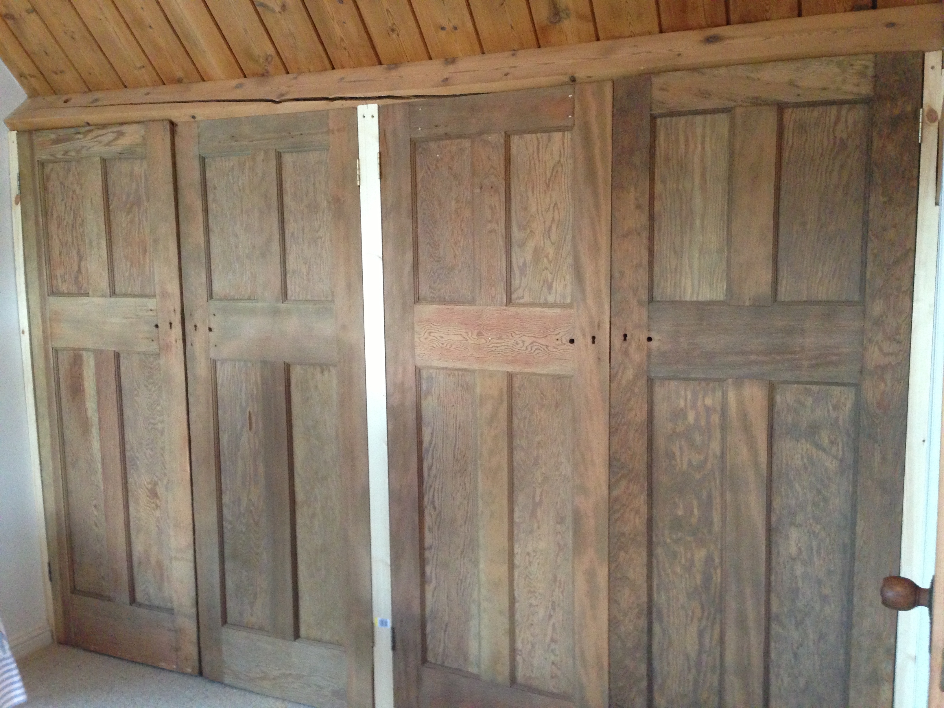Exterior Of Built In/ Fitted Wardrobes Made To Fit In With The Inside Well Known Fitted Wooden Wardrobes (View 5 of 15)