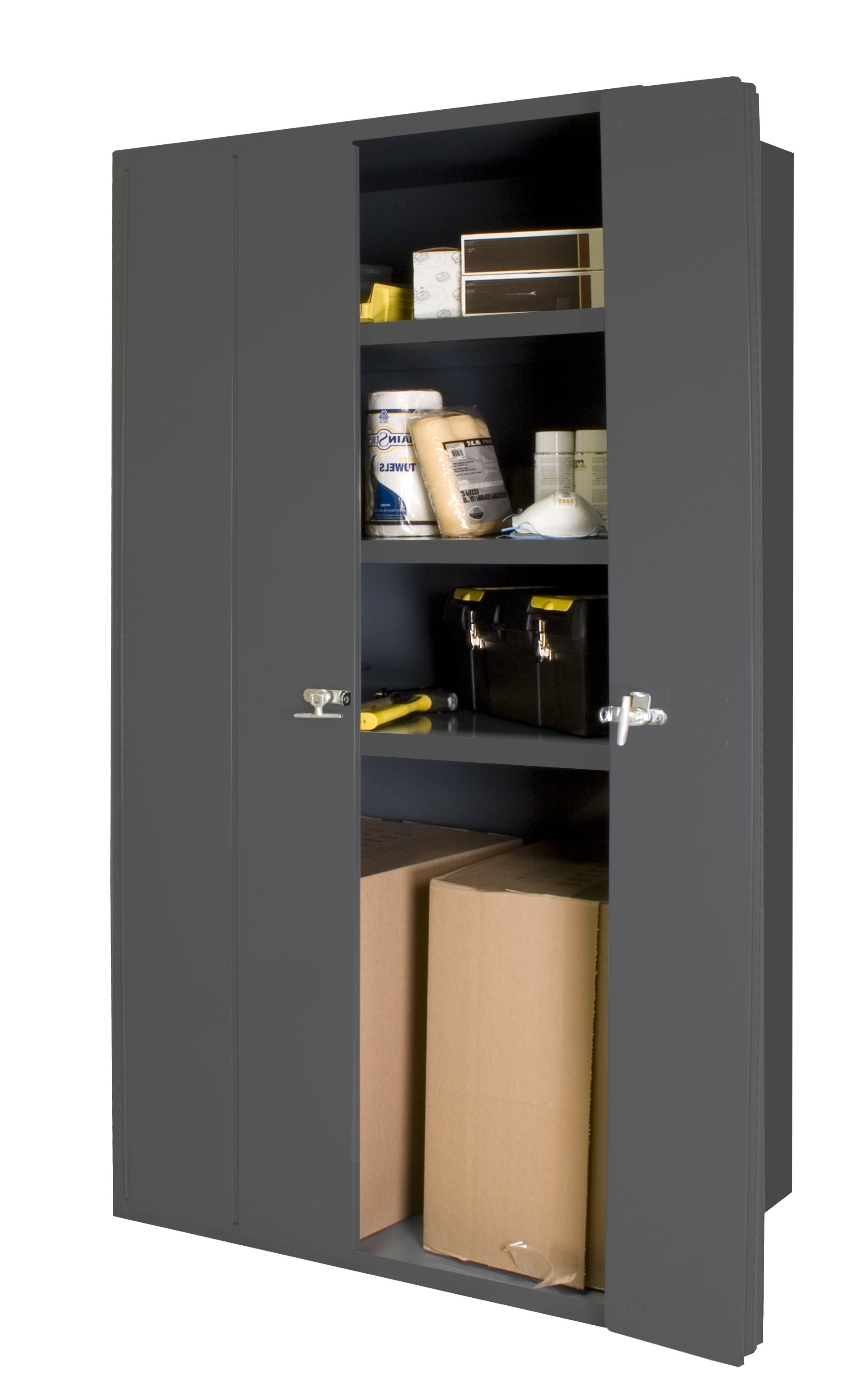 Famous Bifold Bookcases Within Durham Manufacturing Bi Fold Door Cabinet & Reviews (View 8 of 15)