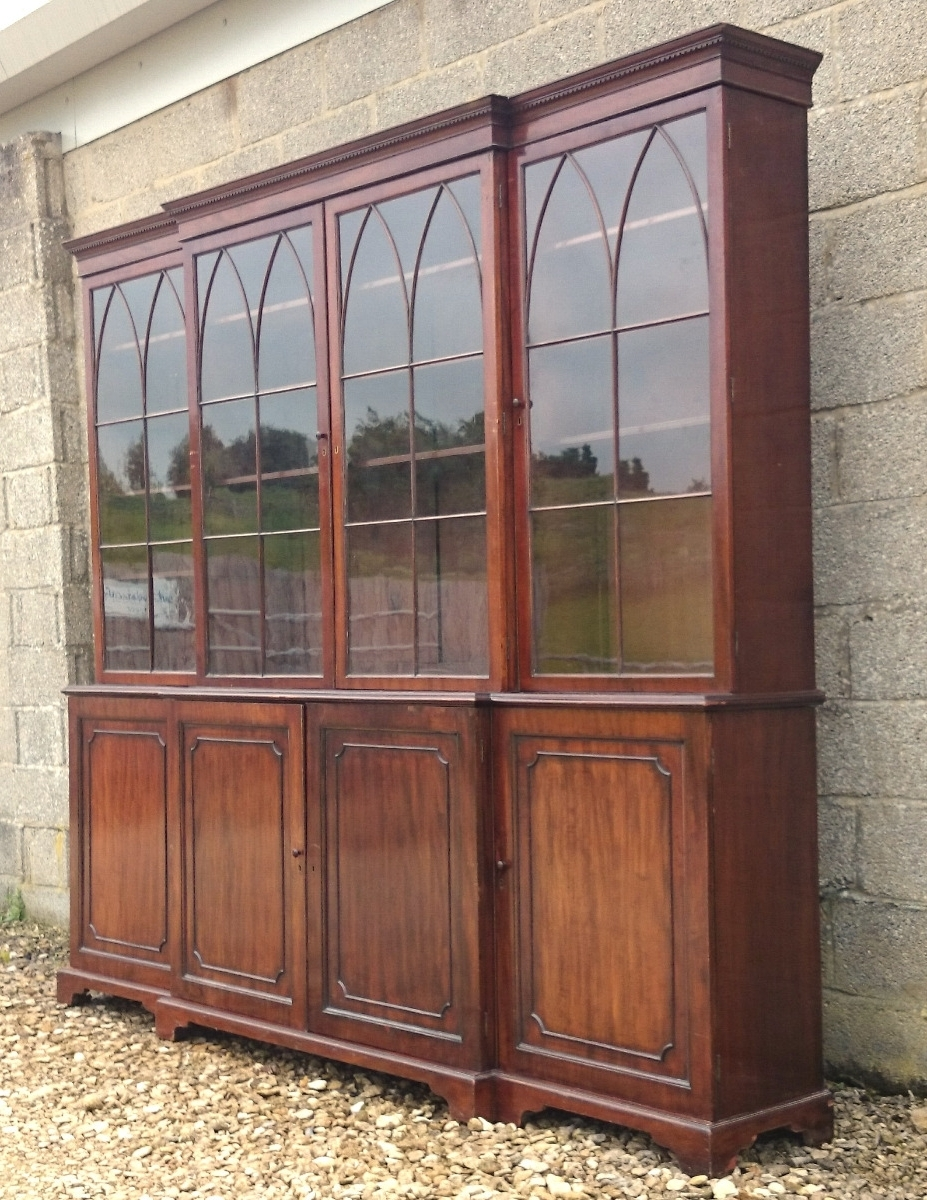Famous Break Front Bookcases Pertaining To Breakfront Bookcases – Hares Antiques (View 6 of 15)