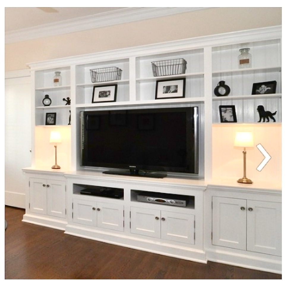 Famous Built In Tv Bookcases With Built In Bookcases Around Tv Interior Designs (View 4 of 15)