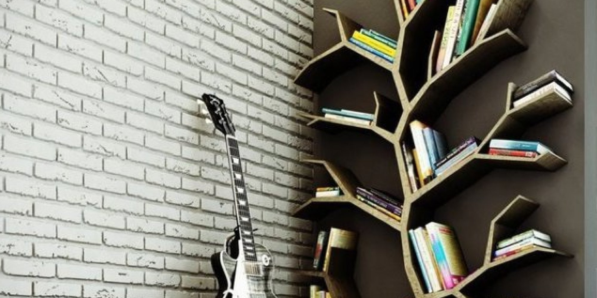 Famous Cool Bookcases Pertaining To Awesome Creative Wall Bookcase For Modern Home Furniture Design (View 12 of 15)