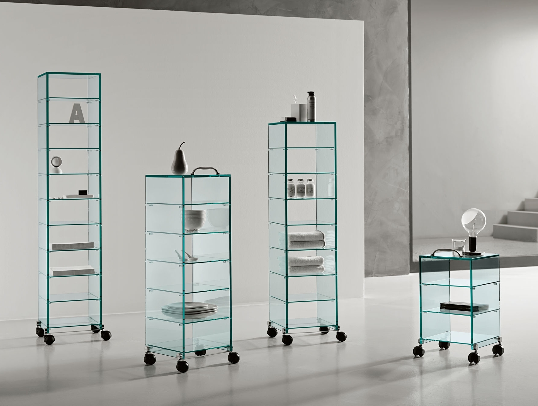 Famous Glass Bookcases With Nella Vetrina Tonelli Dappertutto Italian Contemporary Glass Bookcase (View 3 of 15)