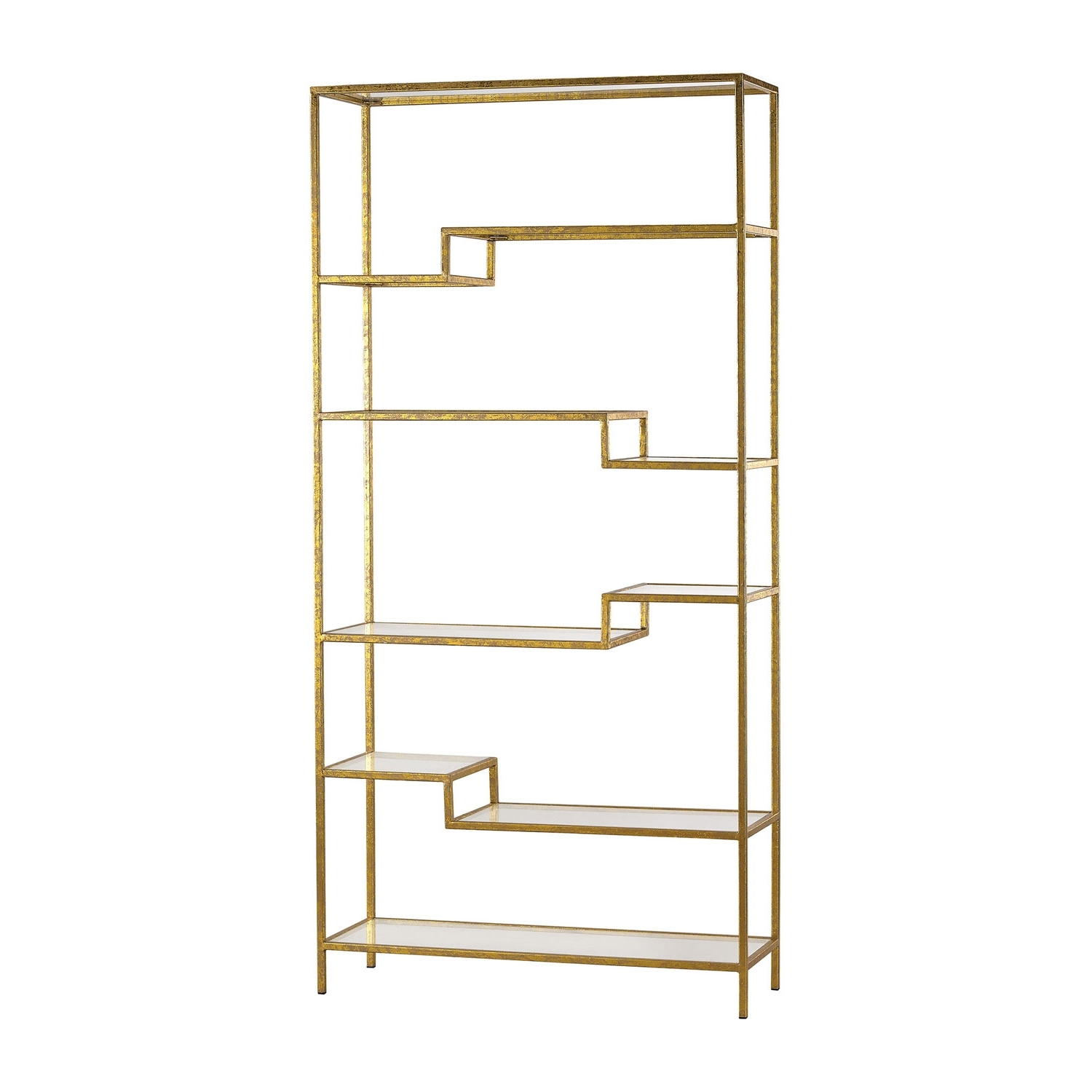 Famous Gold Mirror Shelf Sterling Industries Free Standing Shelves Intended For Gold Metal Bookcases (View 6 of 15)