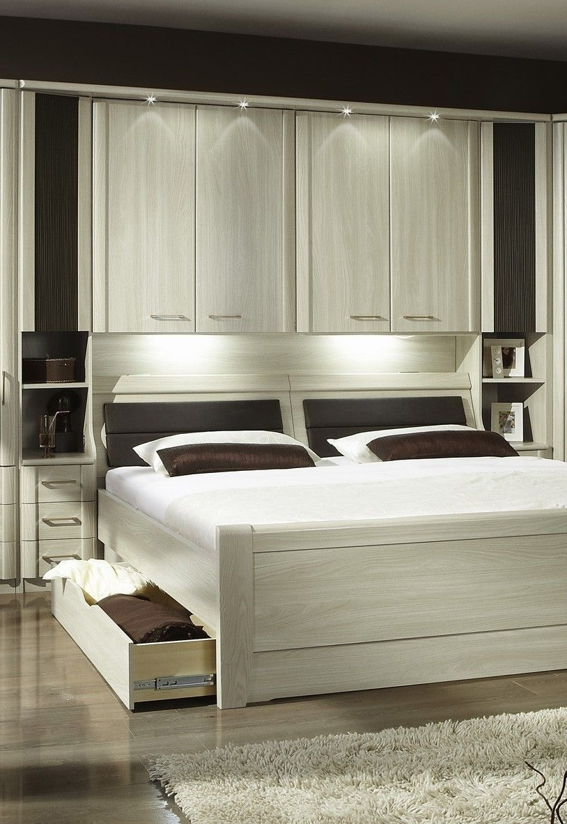Famous Luxor 4 Overbed Unit With 33Cm Open Side Elements Drawers And In Overbed Wardrobes (View 4 of 15)