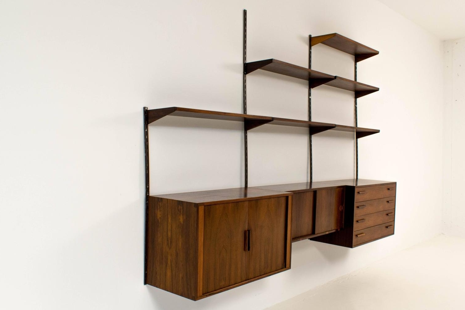 Famous Oak Wall Shelving Units With Regard To Andreas Wall Mounted Shelving Unit In Sand Oak And 9 Compartment (View 10 of 15)