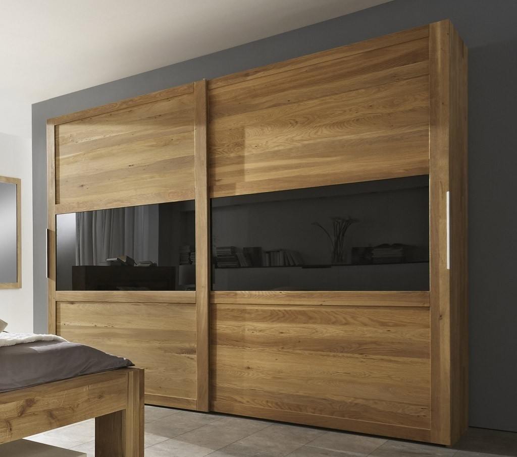 Showing Photos Of Dark Wood Wardrobes With Sliding Doors View 12 Of