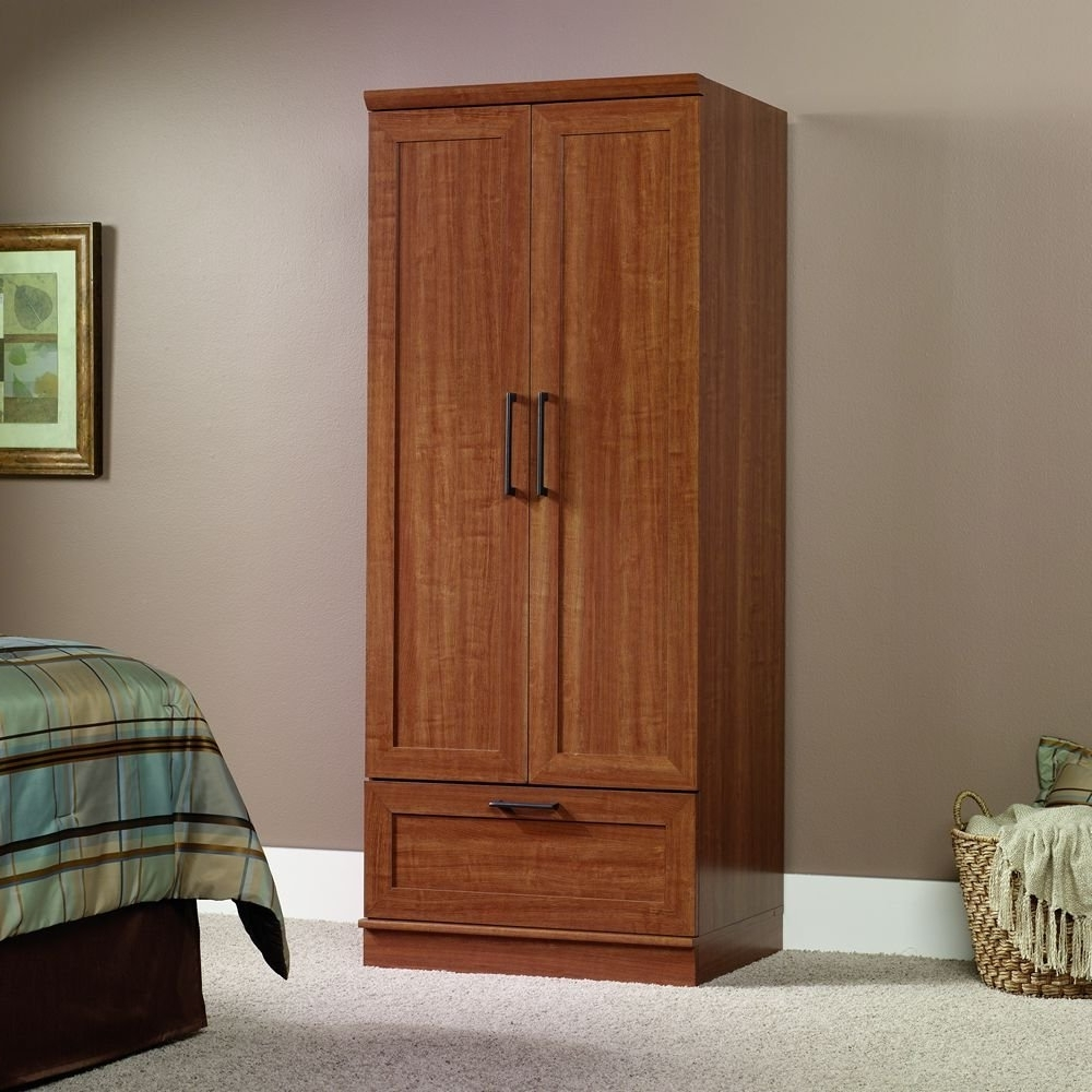 Famous Solid Wood Wardrobes Closets With Classic Free Standing Closet – Wood (View 4 of 15)