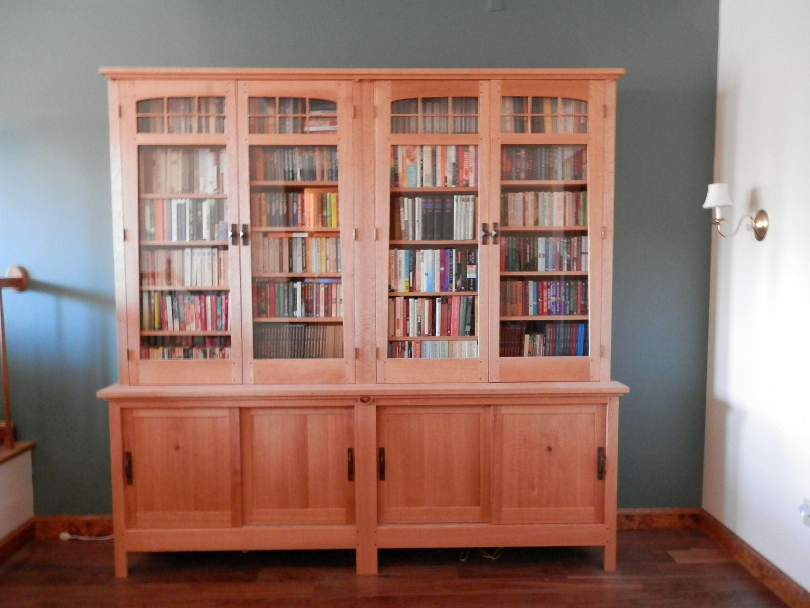 Famous Stickley Bookcases Within Custom Stickley Styled Bookcasecustom Furniture Design (View 14 of 15)