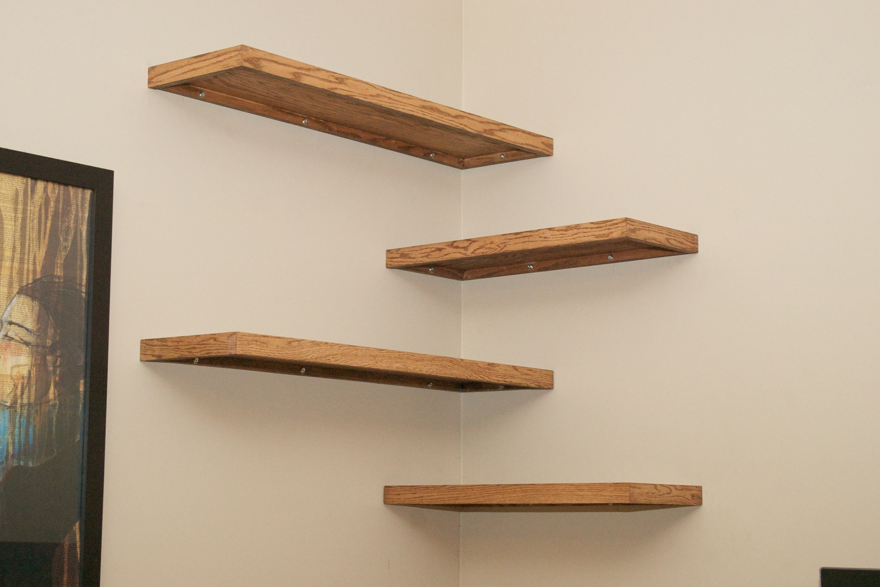 Famous Wall Shelves Design: Cherry Wood Wall Shelves For Sale Dark Cherry Throughout Wooden Wall Shelves (View 6 of 15)