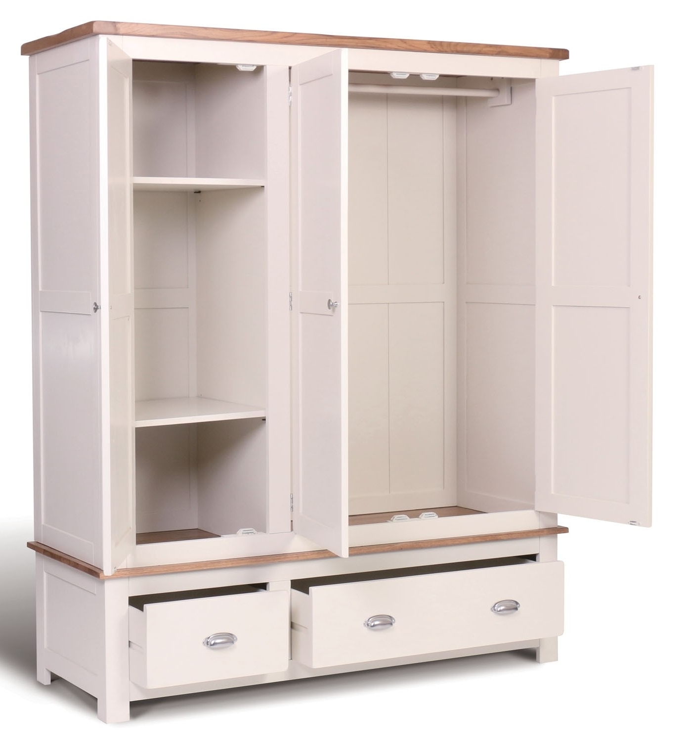 Famous Wardrobes With Drawers And Shelves Within Triple Wardrobe With Shelves And Drawers • Drawer Design (View 5 of 15)