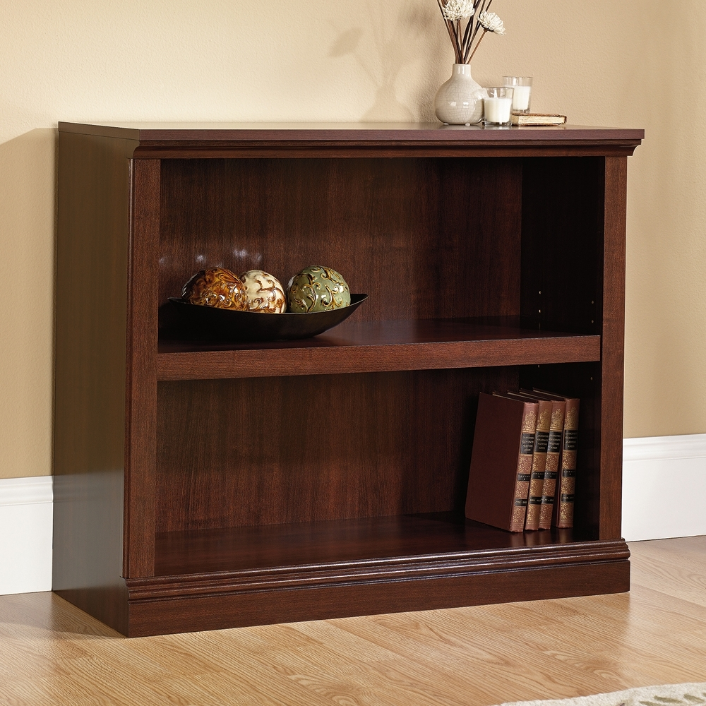 Fashionable 2 Shelf Bookcases With Sauder Select Cherry 2 Shelf Bookcase (View 7 of 15)