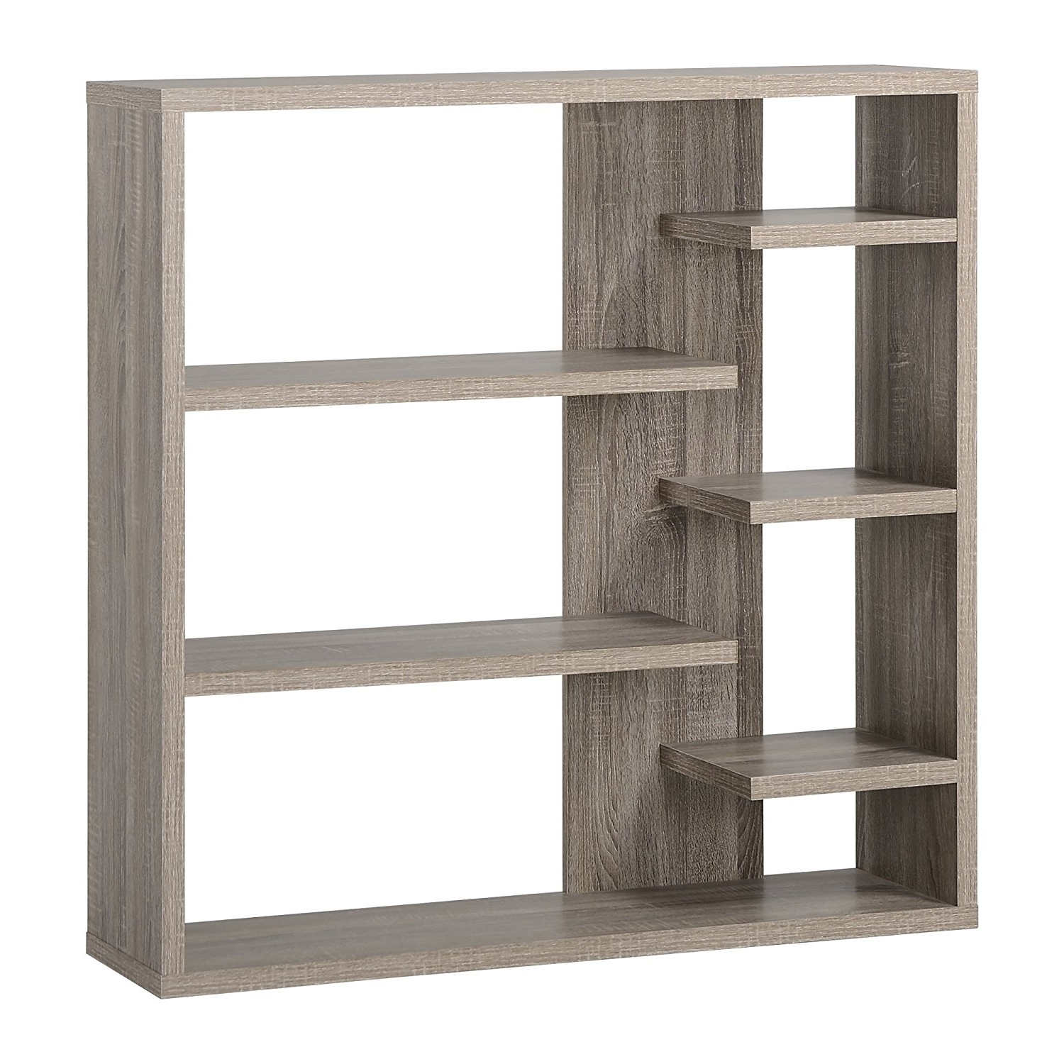 Fashionable Amazon: Homestar 6 Shelf Storage Bookcase In Reclaimed Wood Intended For Reclaimed Wood Bookcases (View 10 of 15)