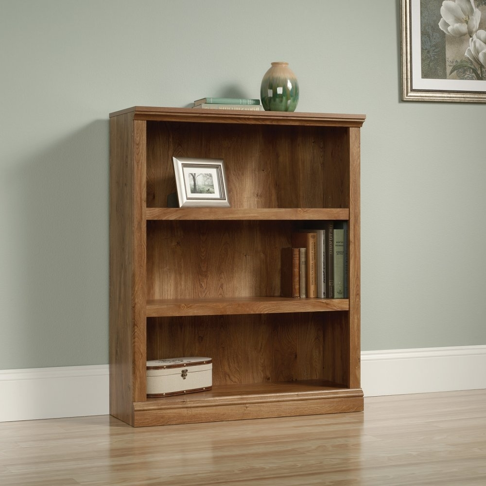 Fashionable Amazon: Sauder Furniture Select Collection 3 Shelf Bookcase With 3 Shelf Bookcases (View 6 of 15)