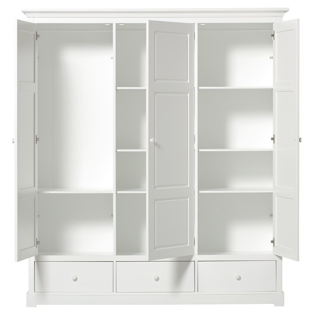 Fashionable Awesome Three Door Wardrobe With Drawers – Badotcom Within 3 Door Wardrobes With Drawers And Shelves (View 7 of 15)
