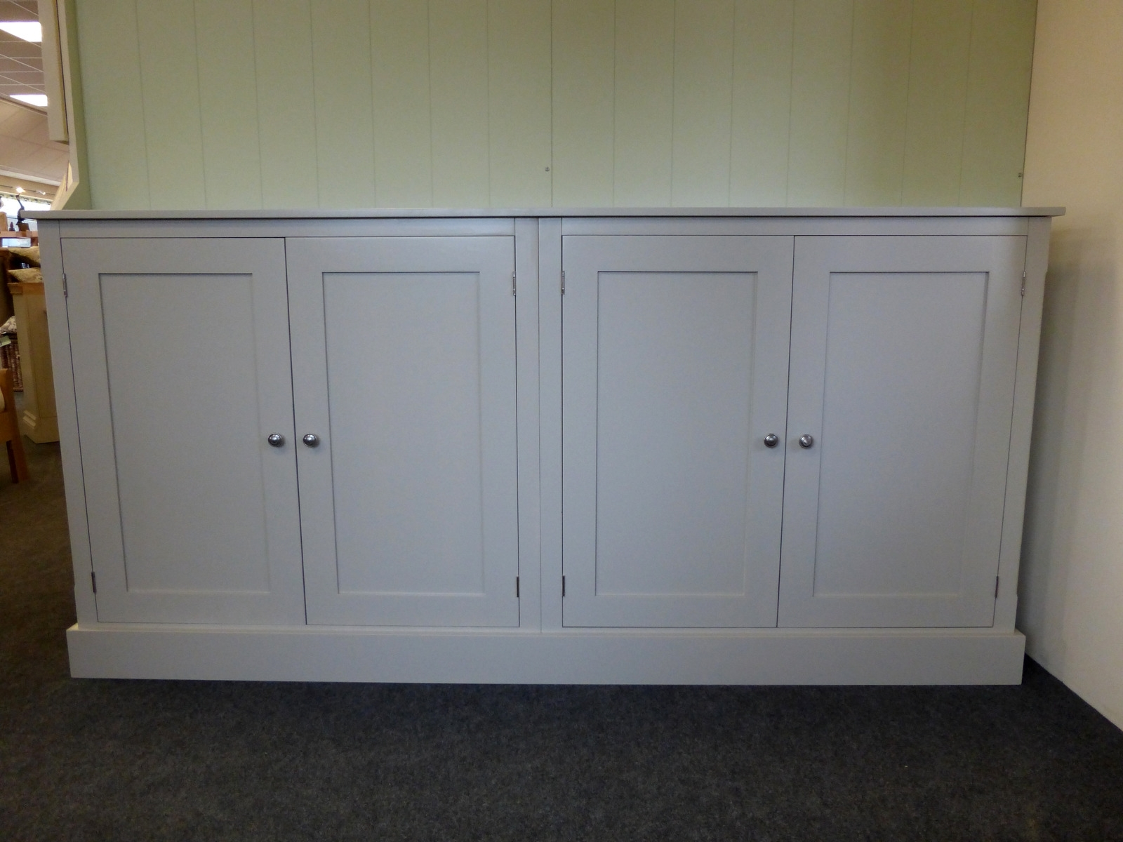 Fashionable Bespoke Cupboards With Wide Four Door Storage Cupboard – Cupboards – Buy Pine, Oak (View 7 of 15)