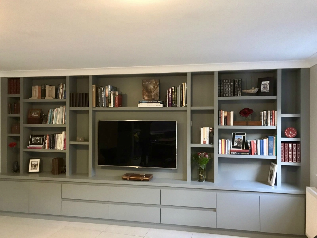 Fashionable Bespoke Media Unit In Wandsworth – The Bookcase Co Within Bespoke Tv Unit (View 13 of 15)