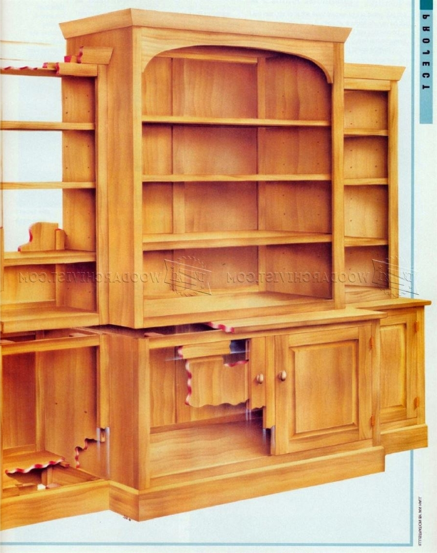 Fashionable Classic Breakfront Bookcase Plans • Woodarchivist Within Break Front Bookcases (View 8 of 15)