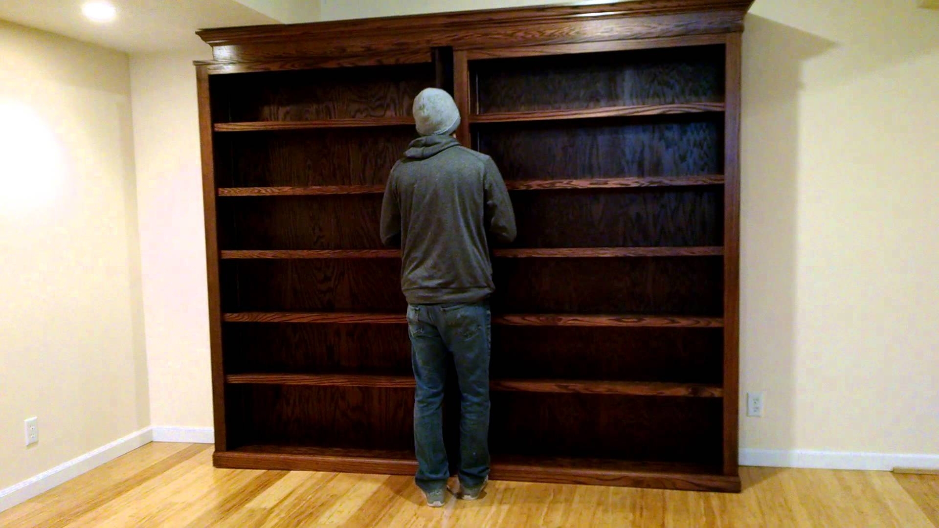 Fashionable Door Bookcases In Sliding Bookcase/hidden Door – Youtube (View 6 of 15)