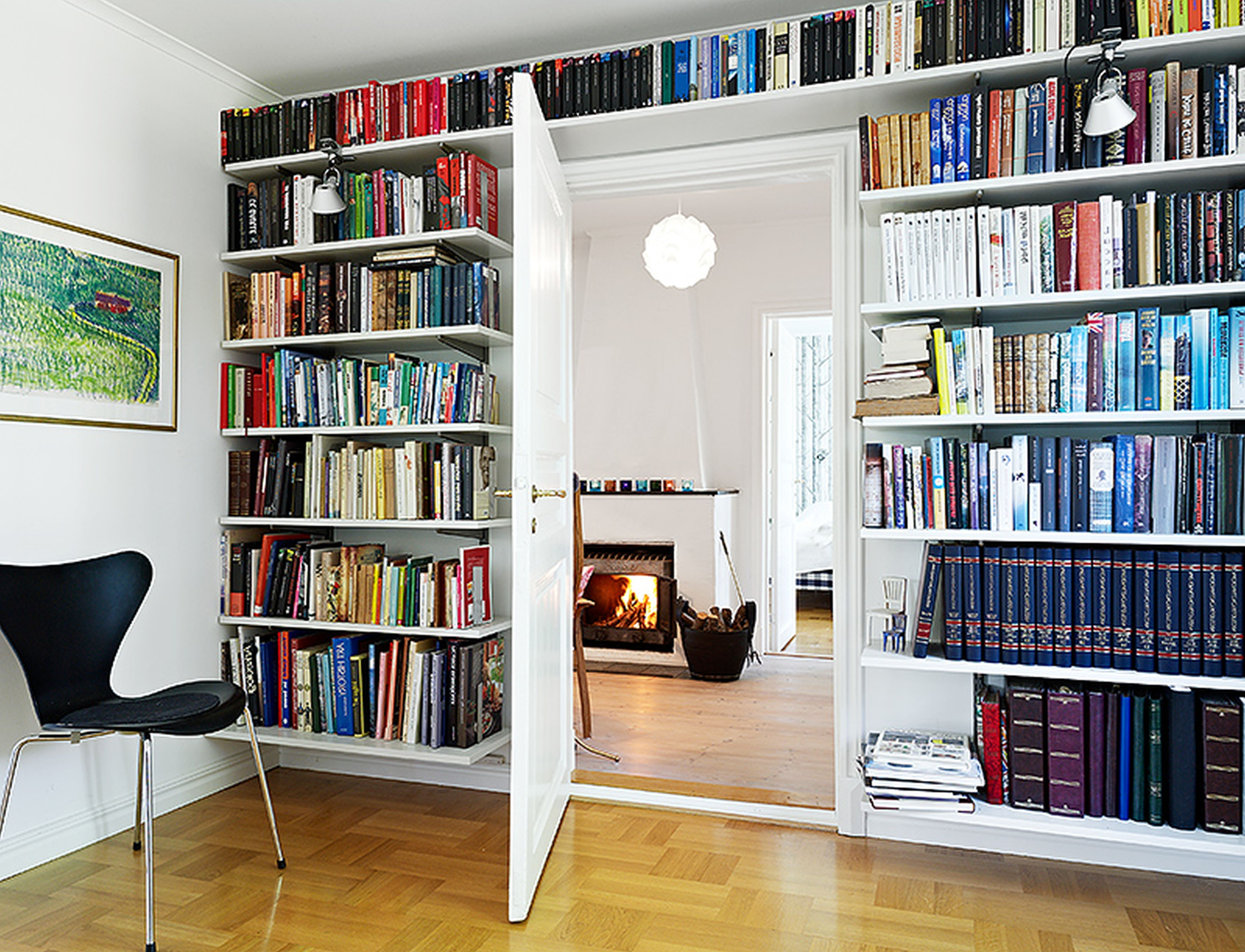 Fashionable Full Wall Bookcases For Beautiful Cool Bookshelves Plan Gorgeous Wall Mounted Bookshelves (View 2 of 15)