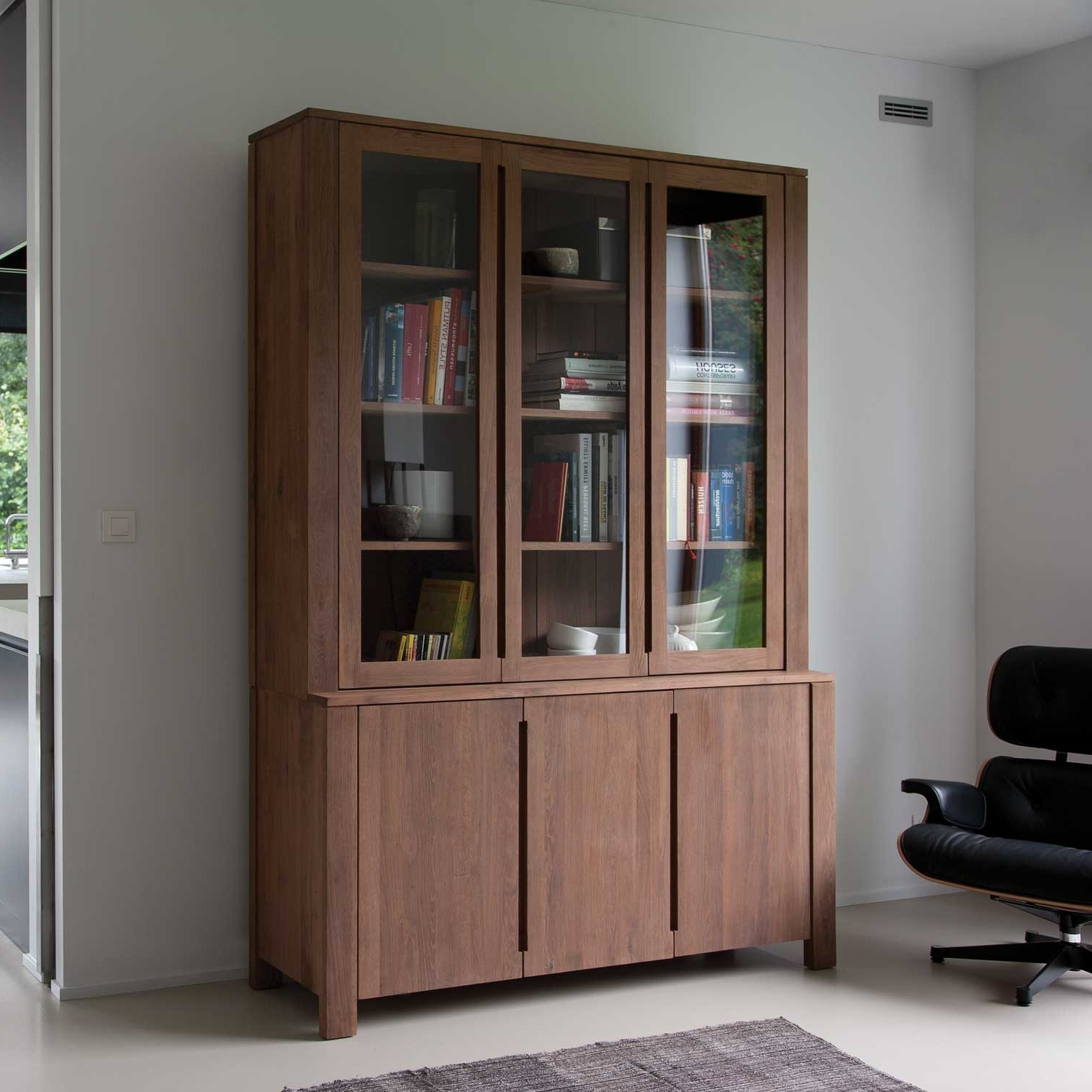 Fashionable Furniture: Effortless Installation Bookcases With Glass Doors Within Bookcases With Glass Doors (View 11 of 15)