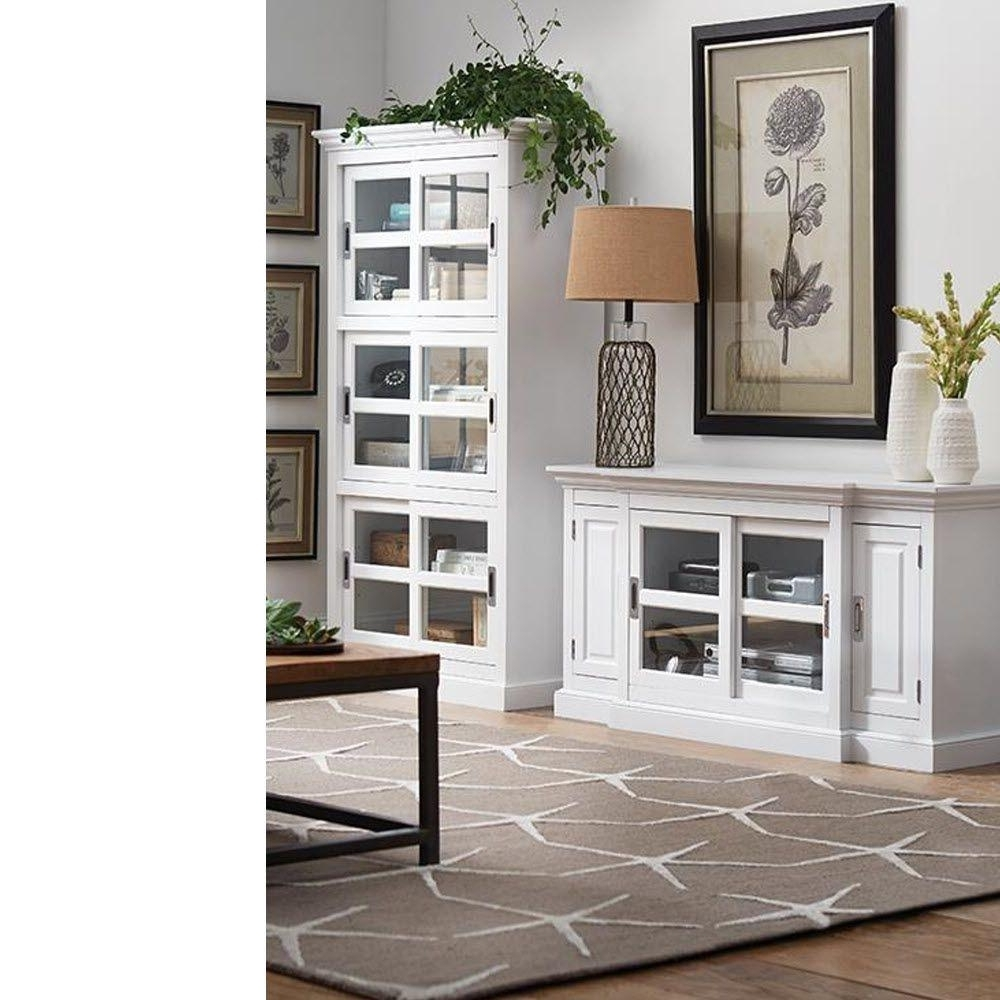 Fashionable Home Decorators Collection Lexington White Glass Door Bookcase Throughout Glass Bookcases (View 4 of 15)