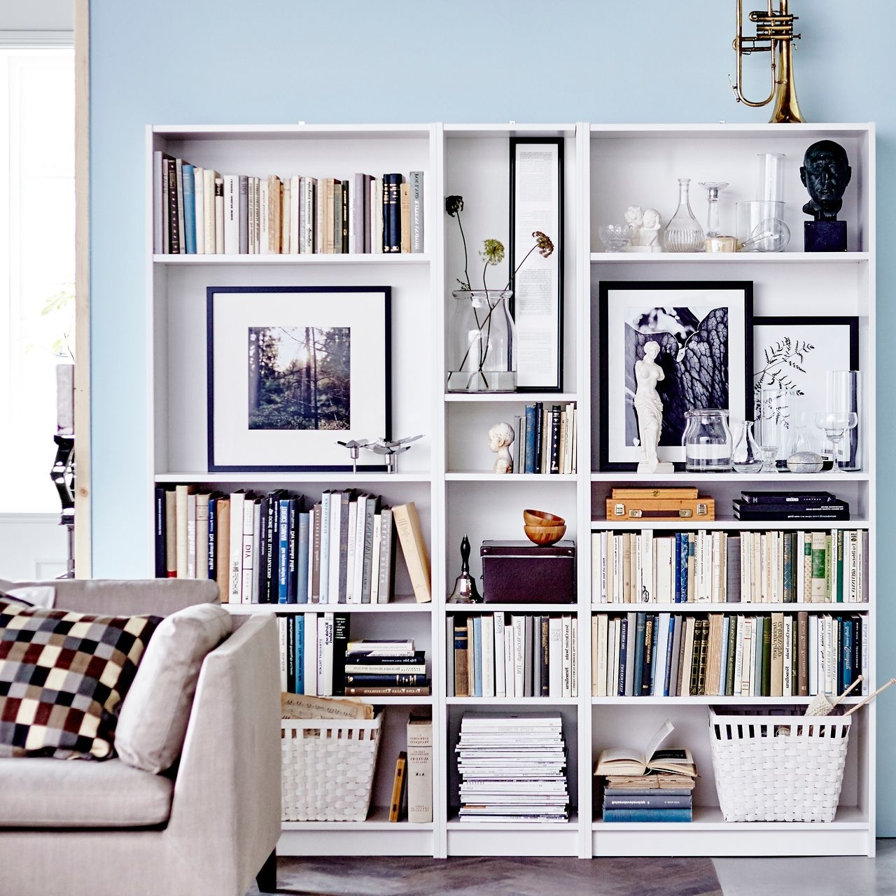 Fashionable Ikea Billy Bookcase: Leave An Extra Wide Shelf At Shoulder Height Within Billy Bookcases (View 5 of 15)