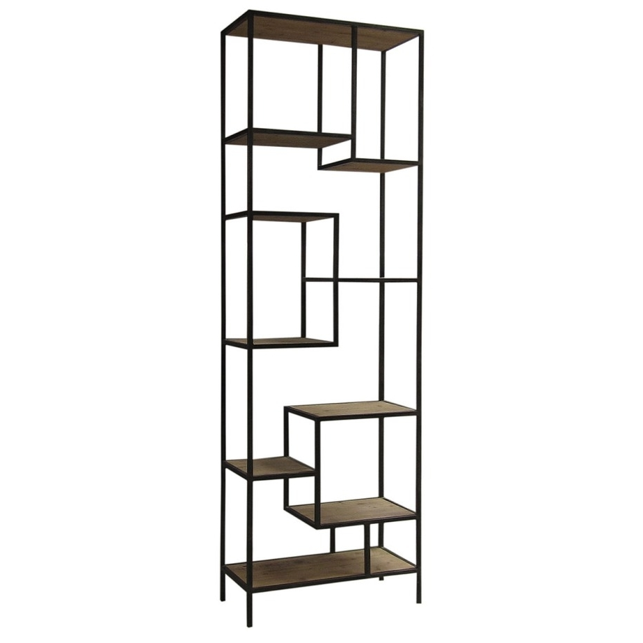 Fashionable Metal Bookcases Regarding Ideas Wood And Metal Bookcase Home Furniture Ideas Metal Bookcases (View 4 of 15)