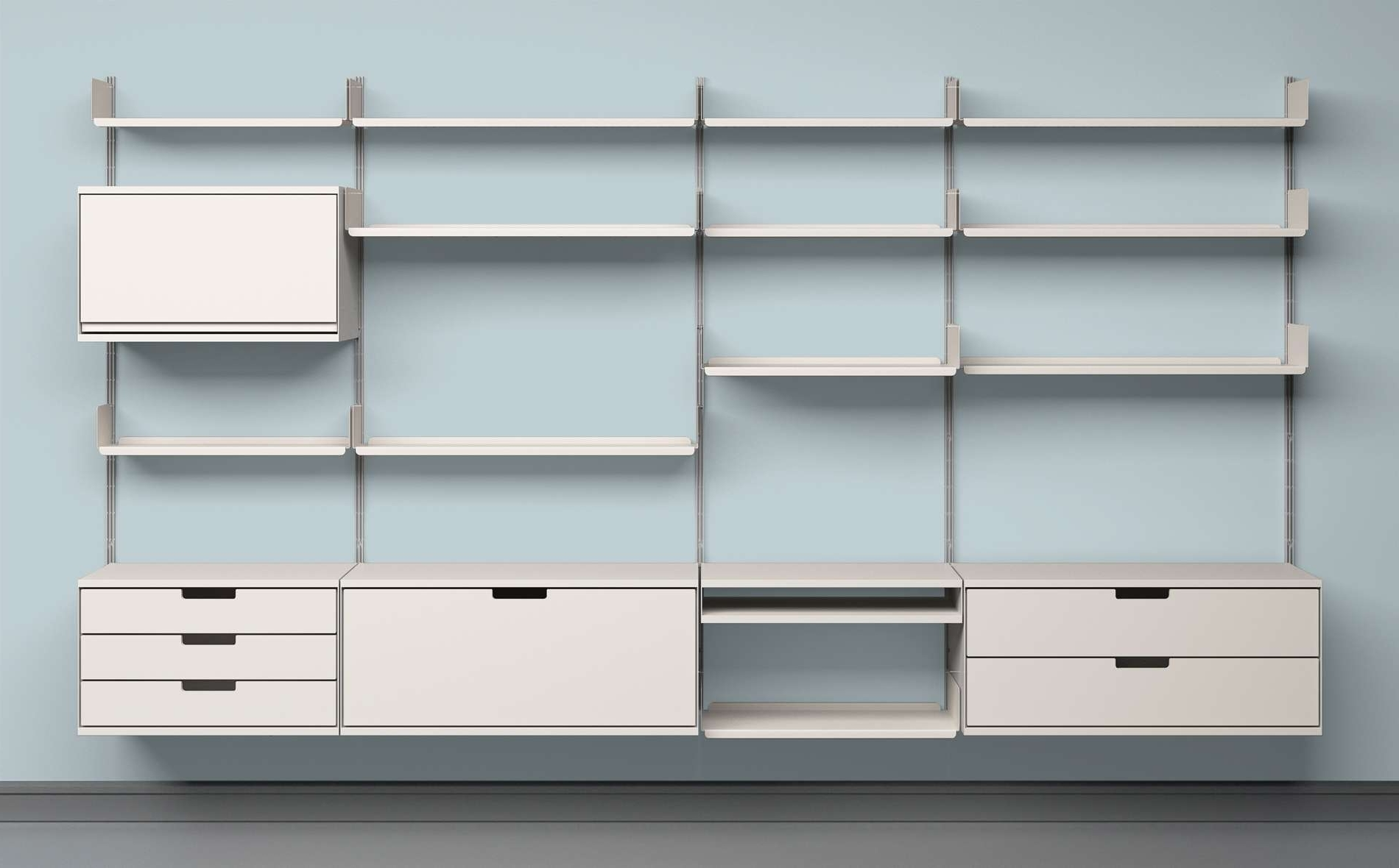 Fashionable Modular Shelving Systems – Home Design And Decor In Home Shelving Systems (View 2 of 15)