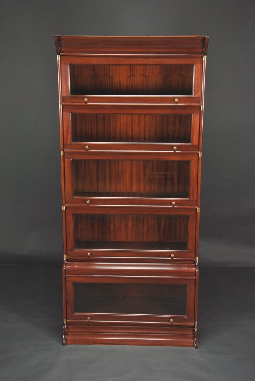 Fashionable Reproduction Globe Wernicke Stacking Barrister Bookcase Throughout Mahogany Bookcases (View 4 of 15)