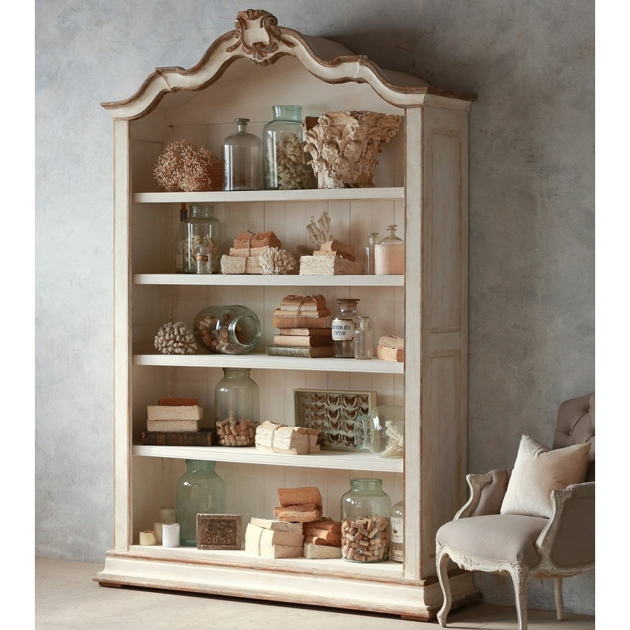 Fashionable Shabby Chic Bookcase Hutch (View 7 of 15)