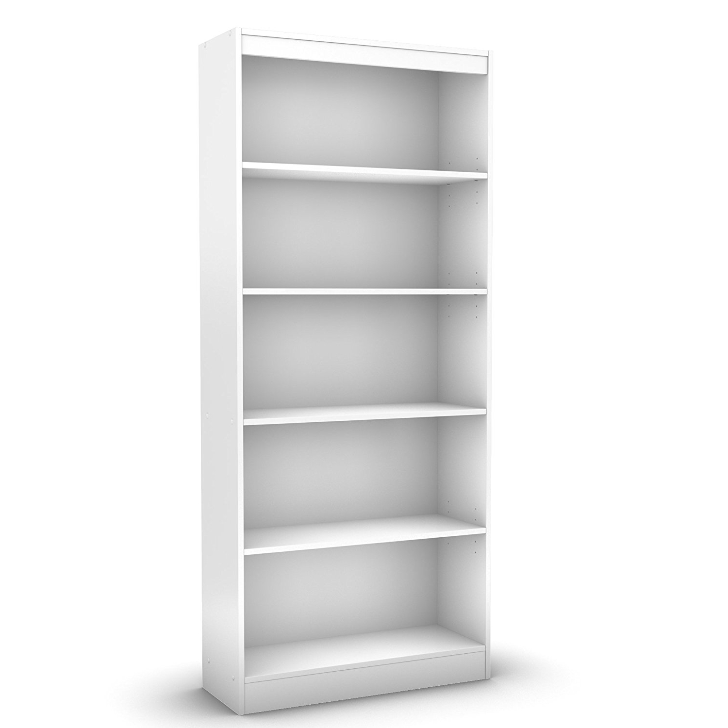 Fashionable South Shore 5 Shelf Bookcases In Amazon: South Shore Axess Collection 5 Shelf Bookcase, Pure (View 2 of 15)
