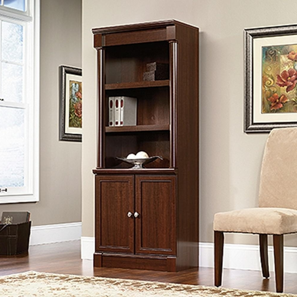 Fashionable Staples Bookcases In Sauder Palladia Select Cherry Storage Open Bookcase 412019 – The (View 5 of 15)