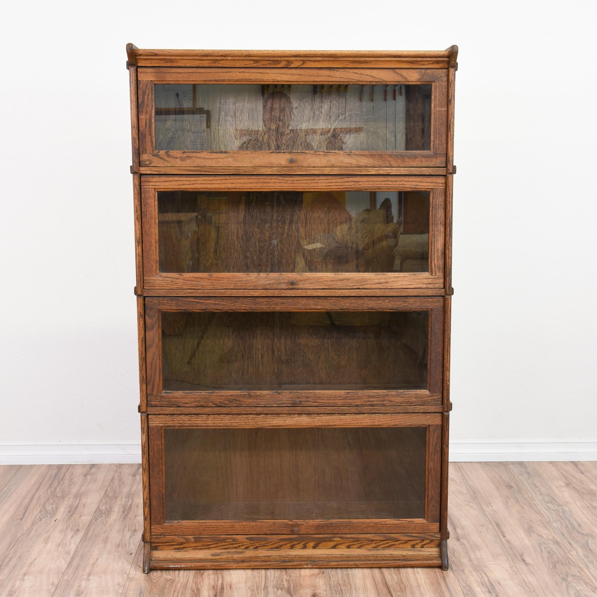 Fashionable This Rustic Lawyers Bookcase Is Featured In A Solid Wood With A For Solid Oak Shelves (View 3 of 15)