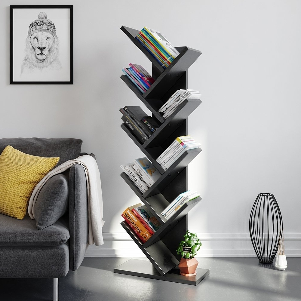 Fashionable Tribesigns 9 Shelf Tree Book Shelf, Modern Bookcases And Shelves Within Tree Bookcases (View 9 of 15)