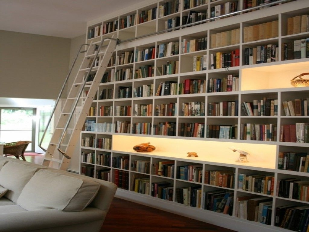Fashionable Uncategorized Living Room Decor Ideas Room Library Large White Regarding Study Bookshelves (View 5 of 15)