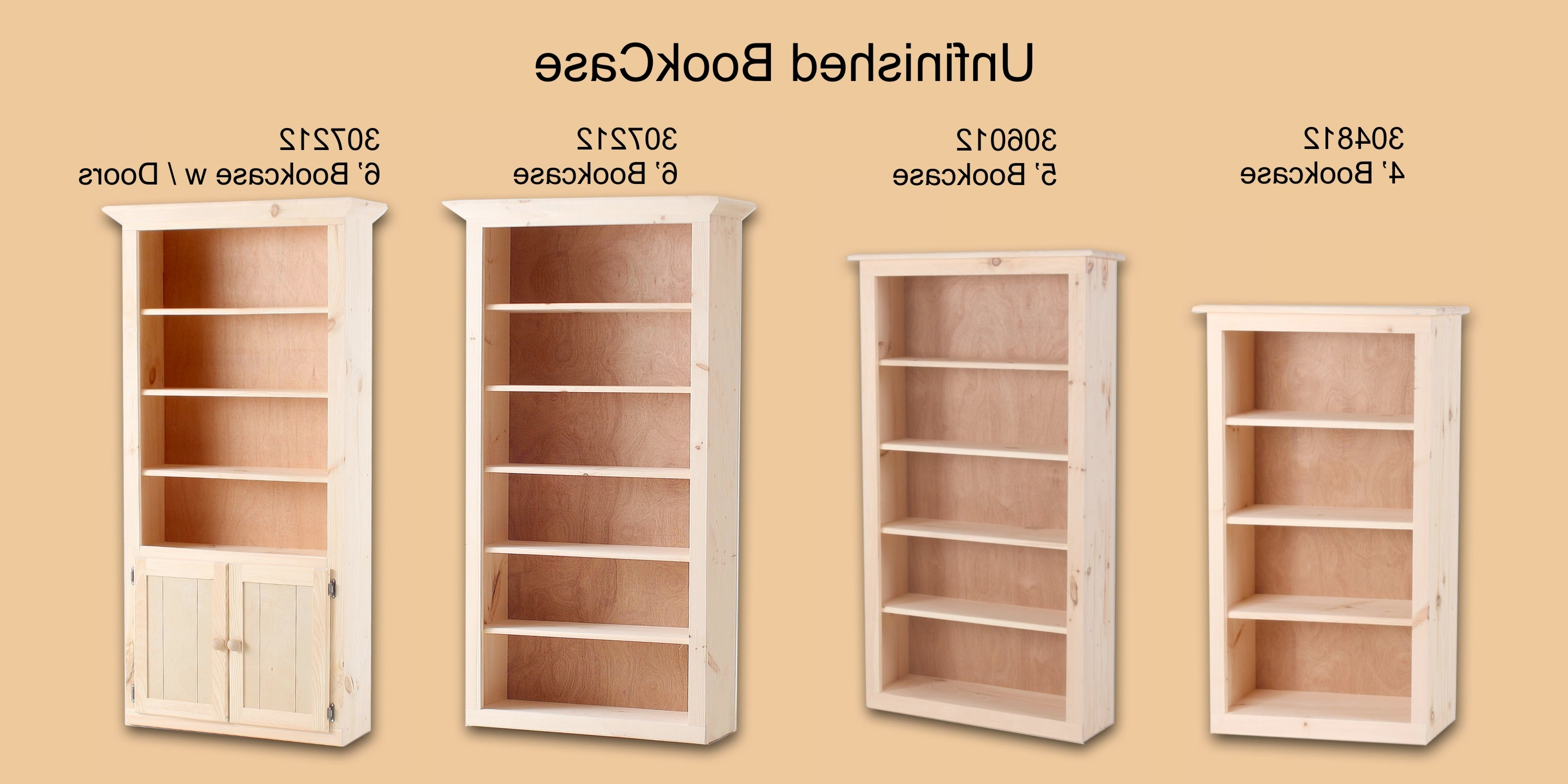 Fashionable Unfinished Wood Bookcases In Stirring Small Tall Bookcase Images Ideas Narrow Wood Top (View 8 of 15)