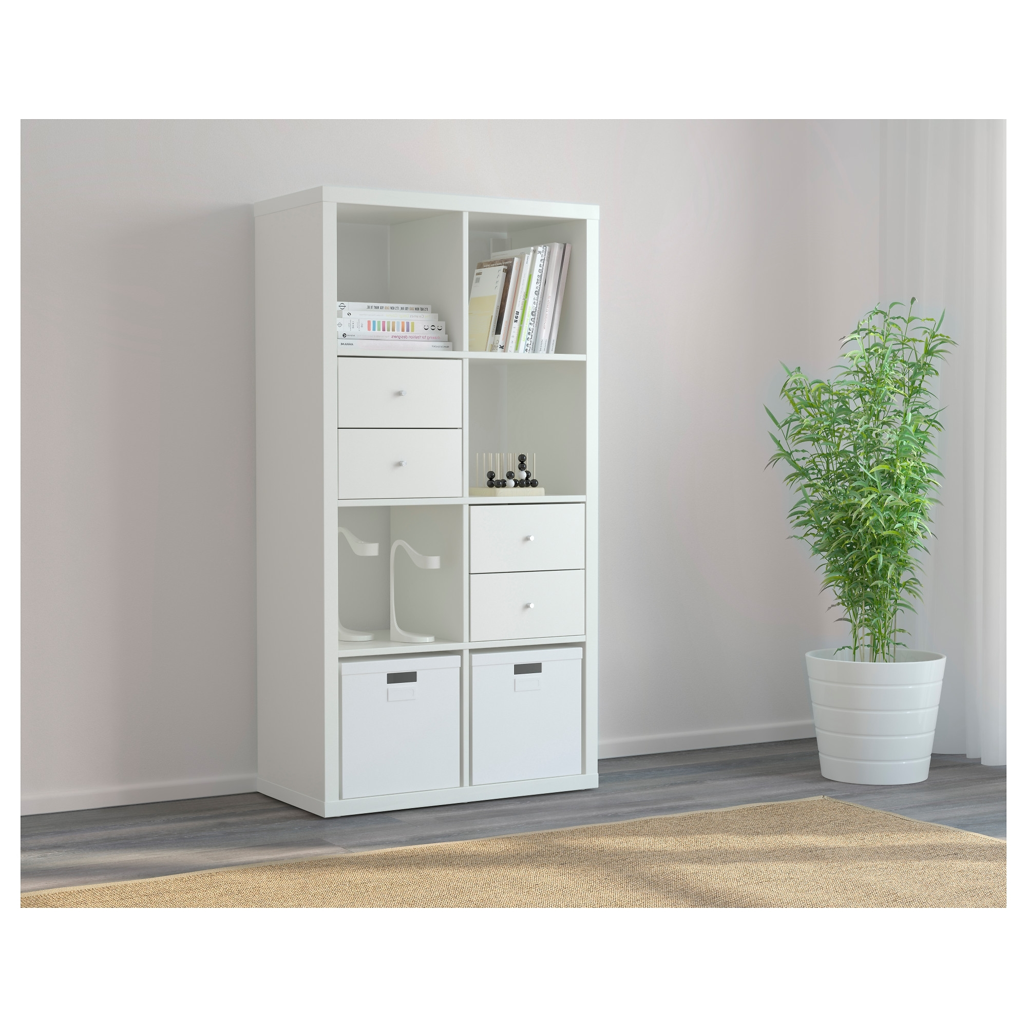 Fashionable Wardrobes Drawers And Shelves Ikea Throughout Kallax Shelving Unit – White, 77X147 Cm – Ikea (View 6 of 15)