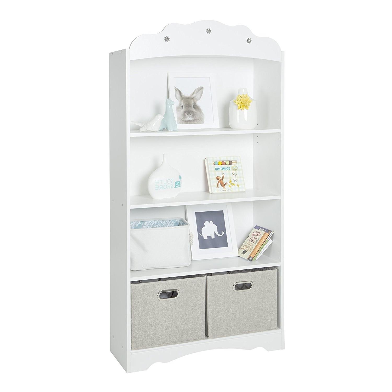 Fashionable White Bookcases Regarding Amazon: South Shore Tiara 4 Shelf Bookcase, Pure White (View 6 of 15)